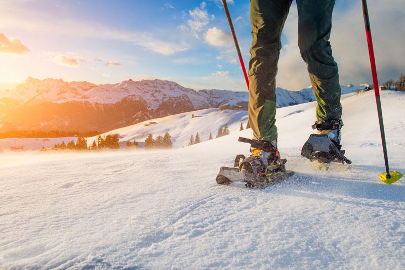 curso raquetas de nieve en gredos y extremadura
